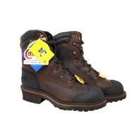 CHIPPEWA WATERPROOF/ INSULATED LACE-UP LOGGER BOOTS MENS SIZE 8.5M CHOCOLATE 55