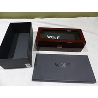 WOLF 461510 SAVOY 5 SLOT BURLWOOD WATCH BOX