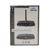 MICCUS LONG RANGE DUAL LINK WIRELESS AUDIO TRANSMITTER AND RECEIVER HOME RTX 2.0