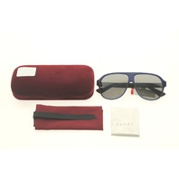GUCCI GG0009S 004 BLUE SUNGLASSES CASE COLOR RED