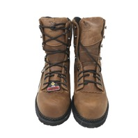 GEORGIA GB00123  MENS 8IN CRAZY HORSE LOGGERS COMPOSITE WATERPROOF BOOTS SZ 10
