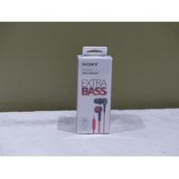 SONY MDR XB50AP/R IN-EAR HEADPHONES W/MIC RED MDRXB50AP/R