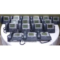 LOT OF 17* CISCO 7961 IP PHONES W/ 17 HANDSETS