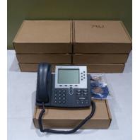 LOT OF 7* CISCO 7961 IP PHONES W/ SEVEN HANDSETS