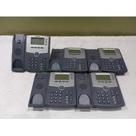 LOT OF 5 CISCO IP PHONE SPA504G W/ NO HANDSETS