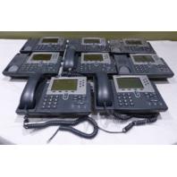 LOT OF 8* CISCO 7960 IP PHONE W/ THREE HANDSETS