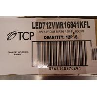 QTY 12* TCP 7W 4100K 12V DIMMABLE LED BULBS LED712VMR16841KFL