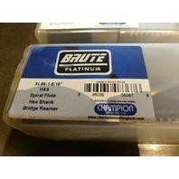 """BRUTE PLATINUMCHAMPION  XL86-1-5/16"""" HSS SPIRAL FLUTE HEX SHANK BRIDGE REAMER"""
