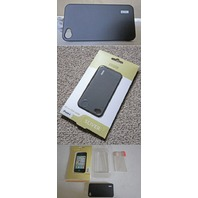 MING ULTRA THIN CASE & SCREEN GUARD AT&T IPHONE 4 BLACK