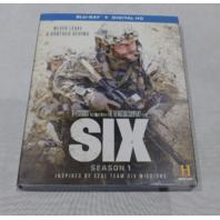 SIX: SEASON 1 BLU-RAY+DIGITAL HD NEW W/ SLIPCOVER