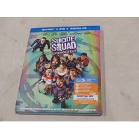 SUICIDE SQUAD BLU-RAY+DVD+DIGITAL HD NEW W/ SLIPCOVER