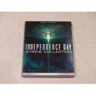 INDEPENDENCE DAY 2-MOVIE COLLECTION BLU-RAY+DIGITAL HD NEW