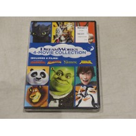 HOW TO TRAIN YOUR DRAGON/MADAGASCAR/SHREK/KUNG FU PANDA 4-MOVIE COLLECTION DVD S