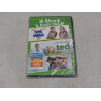 3 MOVIE LAUGH DUMB AND DUMBER TO/TED/A MILLION WAYS TO DIE IN THE WEST DVD NEW