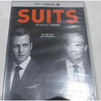 SUITS: SEASON THREE DVD+DIGITAL ULTRAVIOLET NEW