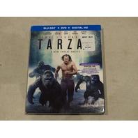 THE LEGEND OF TARZAN BLU-RAY+DVD+DIGITAL HD NEW WITH SLIPCOVER