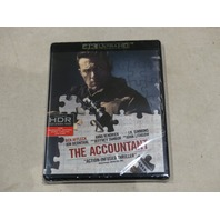 THE ACCOUNTANT 4K ULTRA HD+BLU-RAY+DIGITAL HD NEW WITHOUT SLIPCOVER
