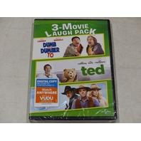 3-MOVIE LAUGH PACK DVD NEW