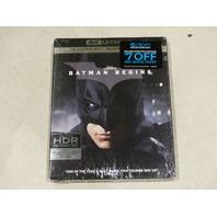 BATMAN BEGINS 4K ULTRA HD + BLU-RAY + DIGITAL HD NEW / SEALED