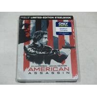 AMERICAN ASSASSIN BLU-RAY+DVD+DIGITAL HD LIMITED-EDITION STEELBOOK NEW