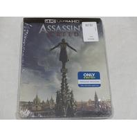 ASSASSIN'S CREED 4K ULTRA HD+BLU-RAY+DIGITAL HD STEELBOOK NEW