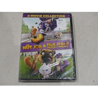 THE NUT JOB AND THE NUT JOB 2 NUTTY BY NATURE DVD NEW / SEALED