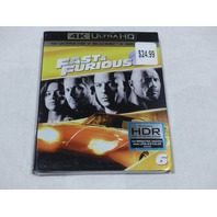 FAST AND FURIOUS 6 (4K ULTRA HD+BLU-RAY+DIGITAL HD) NEW WITH SLIPCOVER