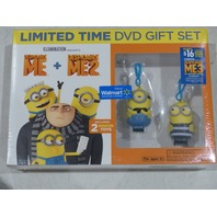 DESPICABLE ME+DESPICABLE ME 2 LIMITED TIME DVD GIFT SET NEW