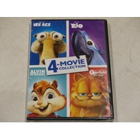 ICE AGE/RIO/ALVIN AND THE CHIPMUNKS/GARFIELD THE MOVIE 4-MOVIE COLLECTION DVD