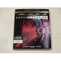 INTERSTELLAR 4K ULTRA HD+BLU-RAY+DIGITAL HD NEW W/ SLIPCOVER