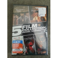 5 FILM COLLECTION 2 DENZEL WASHINGTON TRAINING DAY PELICAN MALCOLMX FALLEN DVD D27BX090915