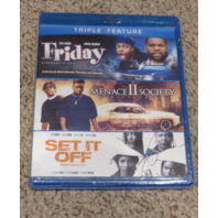FRIDAY/MENACE II SOCIETY/SET IF OFF TRIPLE FEATURE BLU-RAY NEW