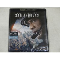 SAN ANDREAS 4K ULTRA HD+BLU-RAY+DIGITAL HD NEW W/OUT SLIPCOVER