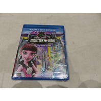 WELCOME TO MONSTER HIGH: THE ORIGIN STORY BLU-RAY+DVD+DIGITAL HD NEW