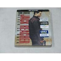 JACK REACHER NEVER GO BACK STEELBOOK EDITION 4K ULTRA HD+BLU-RAY+DIGITAL HD NEW