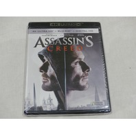 ASSASSIN'S CREED 4K ULTRA HD+BLU-RAY+DIGITAL HD NEW W/OUT SLIPCOVER