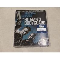 THE HITMAN'S BODYGUARD BLU-RAY+DVD+DIGITAL HD LIMITED-EDITION STEELBOOK CASE NEW