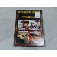 TCM GREATEST CLASSIC FILMS- OUTLAWS AND HEROES: WESTERNS DVD NEW W/ SLIPCOVER