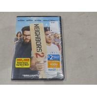 NEIGHBORS 2 DVD + $2 VUDU MOVIE CREDIT NEW / SEALED