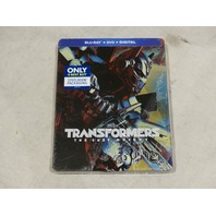 TRANSFORMERS THE LAST KNIGHT W/ STEELBOOK PACKAGING BLU-RAY + DVD + DIGITAL NEW