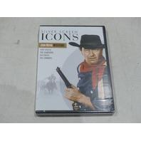 SILVER SCREEN ICONS JOHN WAYNE WESTERNS DVD NEW