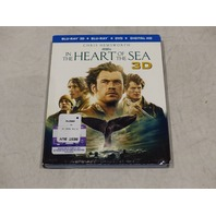 IN THE HEART OF THE SEA BLU-RAY 3D+BLU-RAY+DVD+DIGITAL HD NEW W/ SLIPCOVER