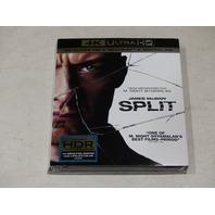 SPLIT 4K ULTRA HD+BLU-RAY+DIGITAL HD NEW W/ SLIPCOVER