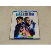 VALERIAN BLU-RAY + DVD + DIGITAL HD NEW W/ SLIPCOVER