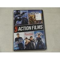 5 ACTION FILMS DVD NEW INCLUDES: JACK RYAN, NINJA TURTLES, G.I. JOE & MORE