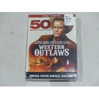 WESTERN OUTLAWS 50 MOVIE COLLECTION DVD + DIGITAL NEW