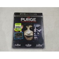 THE PURGE 3-MOVIE COLLECTION 4K ULTRA HD + BLU-RAY + DIGITAL HD NEW