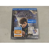 FANTASTIC BEASTS AND WHERE TO FIND THEM BLU-RAY+DVD+DIGITAL HD+COLORING BOOK NEW
