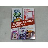 5 FUN FAMILY FILMS DVD NEW