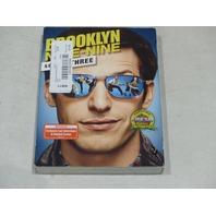 BROOKLYN NINE-NINE: SEASON THREE DVD SET NEW W/ SLIPCOVER